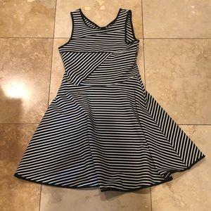 a black and white striped emily west dress